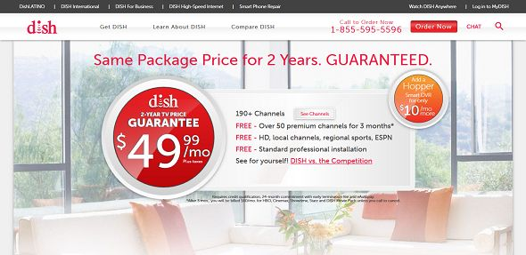 dish home page