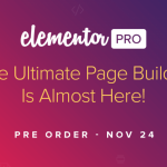 Pre-Order Elementor Pro at 50% Off – Black Friday 2016