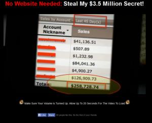 no website millionaire