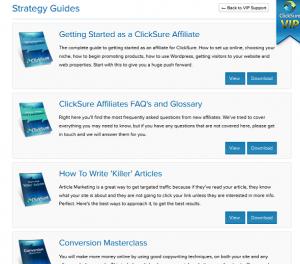 Clicksure VIP guides