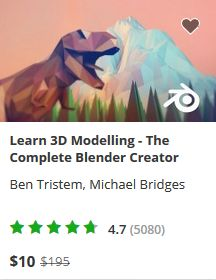 Udemy Blender course