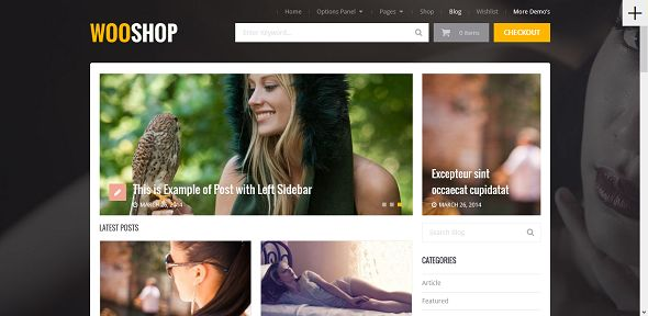 Wooshop Blog Theme
