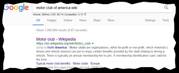 motor club of america wiki search