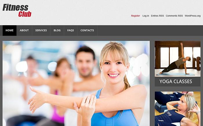 FitnessClub WordPress Theme