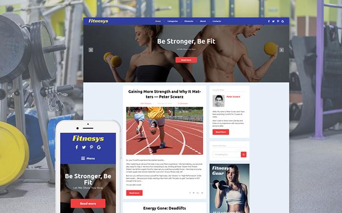 Fitnesys WordPress Theme