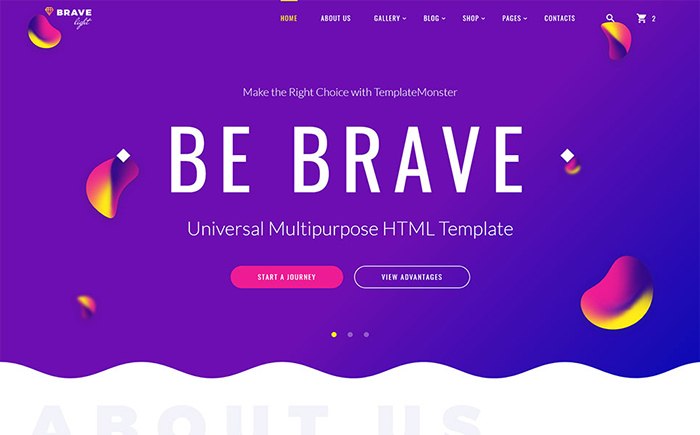 Brave Light HTML5 Theme