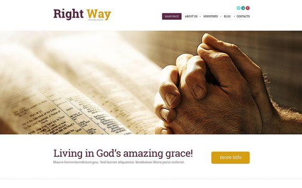 Right Way Church WordPress Theme