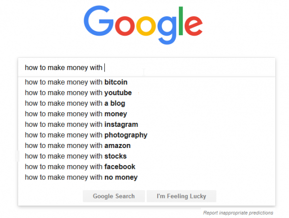 top how to make money searches