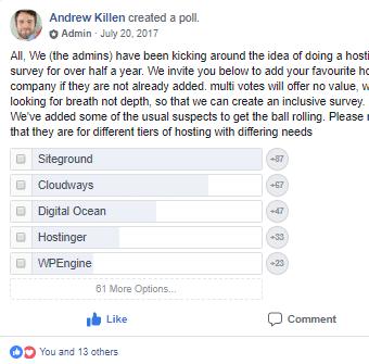FB WordPress Poll
