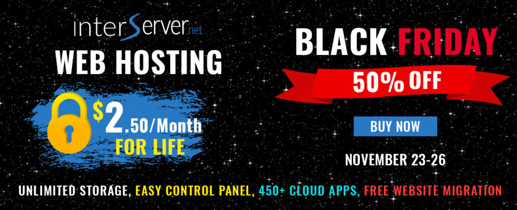 Interserver Black Friday 2019 Deal