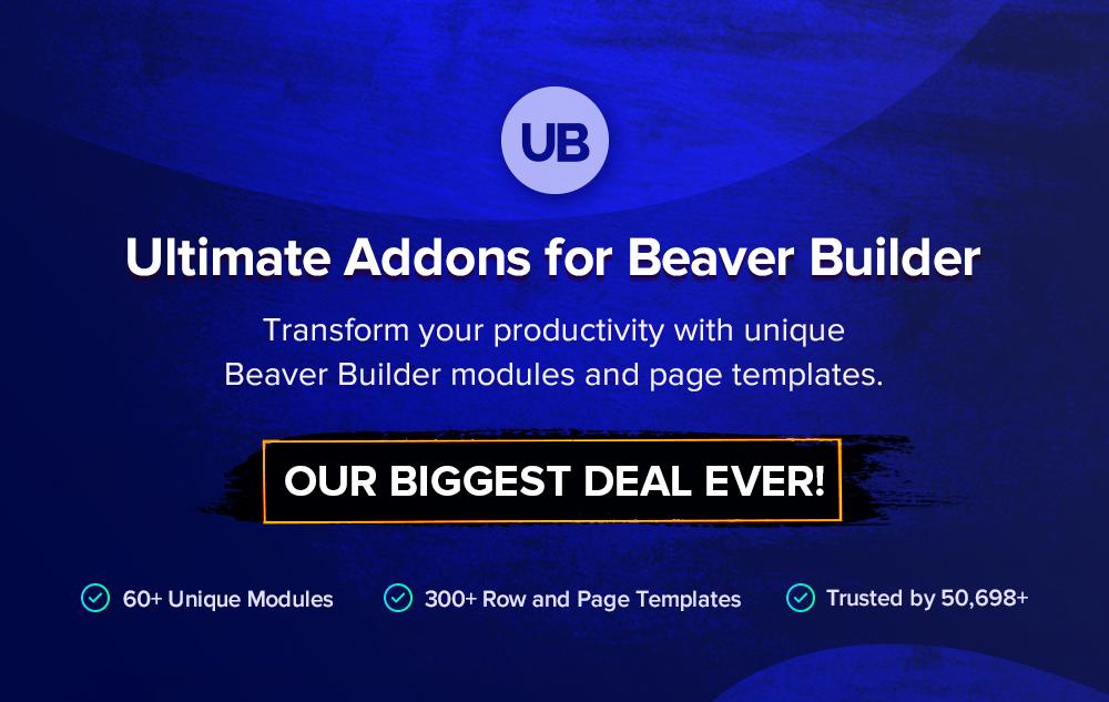 Ultimate Addons for Beaver Builder banner