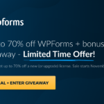 WPForms Black Friday 2020 Deal + Giveaway