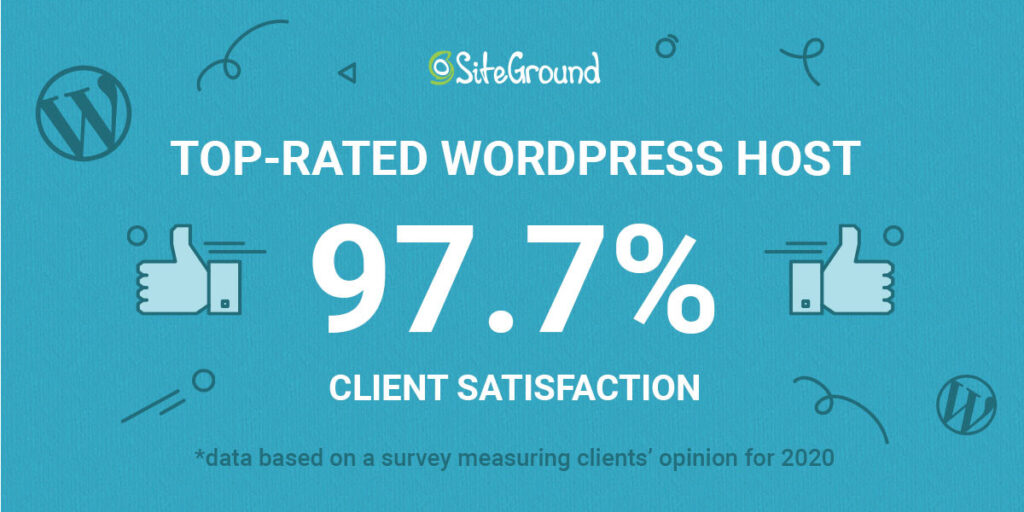 Top rated WordPress host Siteground